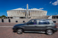 Stade de football moses mabhida vehicle blur Photographie stock libre de droits
