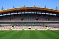 Stade de football vide Photo stock
