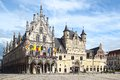 Stadhuis mechelen town hall the belgium Royalty Free Stock Photography