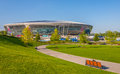 Stadio dell arena di donbass Fotografie Stock
