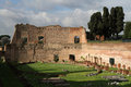 Stadio di domiziano in flavian palace on the palatine hill Royalty Free Stock Photos