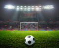 On the stadium abstract football or soccer backgrounds Royalty Free Stock Images