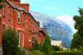 Stadium Aviva and brick building in Dublin Royalty Free Stock Photography