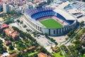 Stadium Of Barcelona From Heli...