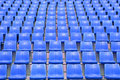 Stadium blue chair in the Royalty Free Stock Photography