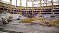 Stadium construction Royalty Free Stock Photo