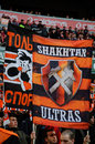 Stadium crowd ultras shakhtar fans of fans the photo has taken during a soccer match shakhtar donetsk vs dnipro dnipropetrovsk on Stock Photo