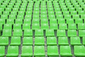 Stadium green chair in the Royalty Free Stock Photos
