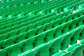 Stadium green seats Royalty Free Stock Image