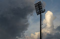 Stadium lights football under the blue sky Royalty Free Stock Images