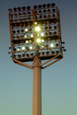 Stadium lights at night sky background Royalty Free Stock Image