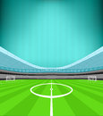 Stadium midfield view with striped background vector Royalty Free Stock Photo