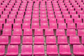 Stadium pink chair in the Stock Photography