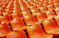 Stadium plastic seats Royalty Free Stock Photo