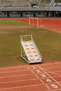 Stadium runway sun Royalty Free Stock Photography
