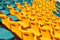 Stadium seat for audience Stock Photos