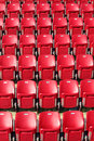 Stadium seating photo of clos up Stock Image