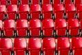 Stadium seating photo of clos up Stock Photography