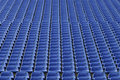Stadium seats blue empty outdoors Stock Photos