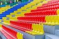 Stadium seats Royalty Free Stock Photo