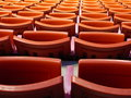 Stadium seats close-up Stock Photography