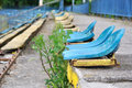 Abandoned stadium Royalty Free Stock Photo