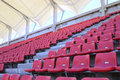 The stadium seats numbered in football Royalty Free Stock Image