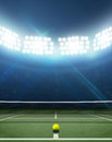 Stadium And Tennis Court Royalty Free Stock Photo