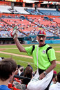 Stadium Vendor Royalty Free Stock Photography