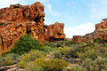 The stadsaal caves landscape in the cederberg south africa Stock Photo