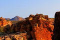 The stadsaal caves landscape in the cederberg south africa and rocks republic of Stock Image
