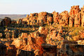 The stadsaal caves landscape in the cederberg south africa and rocks republic of Stock Photography