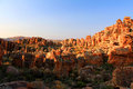 The stadsaal caves landscape in the cederberg south africa and rocks republic of Royalty Free Stock Photography