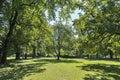 Stadt park in Graz, Austria Royalty Free Stock Photo