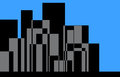 Stadt skyline illustration Stockfoto