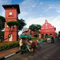 The stadthuys an old dutch spelling meaning city hall is a historical structure situated in heart of malacca city Stock Photos