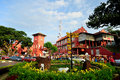 The stadthuys an old dutch spelling meaning city hall is a historical structure situated in heart of malacca city Royalty Free Stock Images