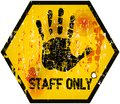 Staff only sign no entry vector illustration Royalty Free Stock Photography