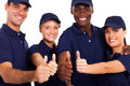 Staff thumbs up Royalty Free Stock Photography
