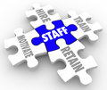 Staff Word Puzzle Pieces Hire Motivate Train Retain Human Resources