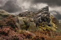 Staffordshire peak district ramshaw rocks in england marks the southern end of the pennines and is part of the distrct national Stock Image