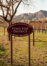 Stag s leap ava appelation close up a napa valley sign for the first of napa district or appelations includes loam clay and Stock Photos