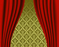 Stage curtain pattern Stock Photos