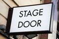 Stage door sign at a theatrical concert hal Stock Images