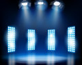 Stage effects vector illustration row of spotlights from a Stock Images
