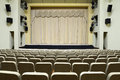 The stage in an empty theater Royalty Free Stock Images