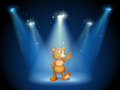 A stage with a huggable bear illustration of Stock Photo