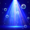 Stage illumination with spotlights and bubbles