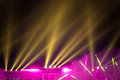 Stage lighting dazzle beautiful and colorful Royalty Free Stock Image