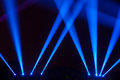 Stage lighting dazzle beautiful features Royalty Free Stock Images